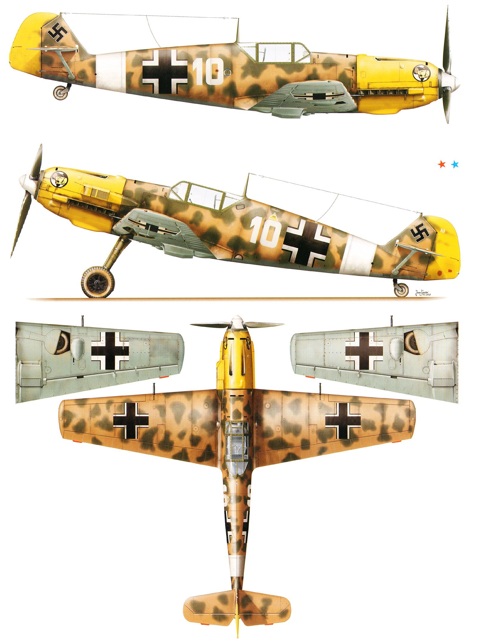messerschmitt bf 109 coloring pages - photo#23