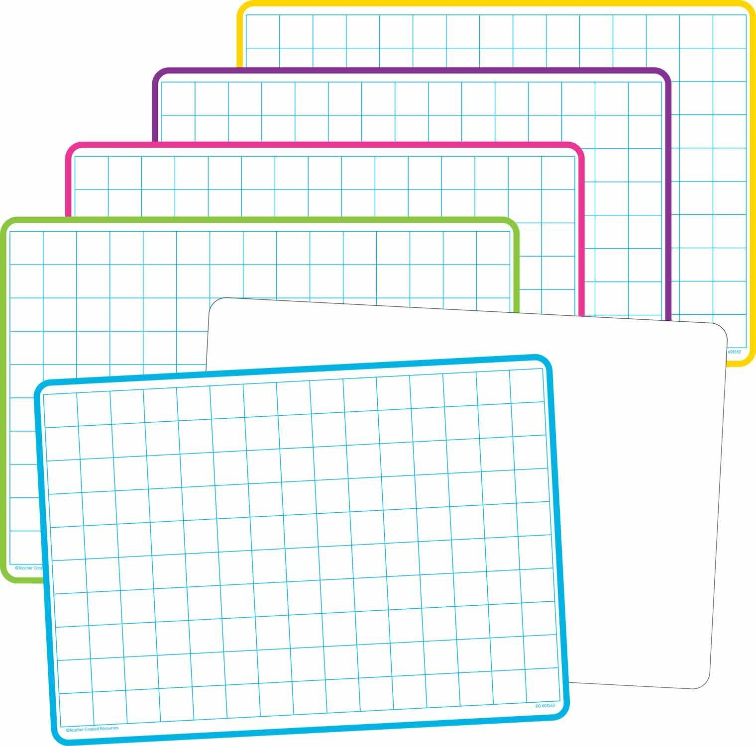 Double Sided Math Grid Dry Erase Boards