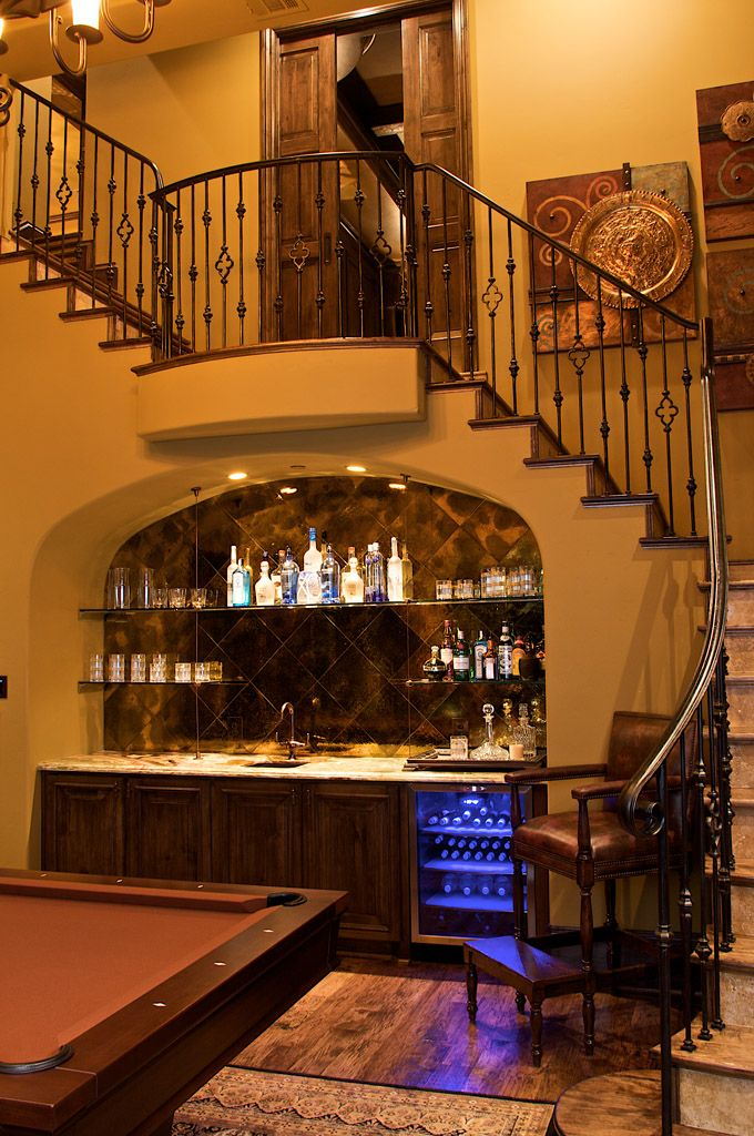 Love Something Like This For The Basement Would Be A Good | Bar Counter Design Under Stairs