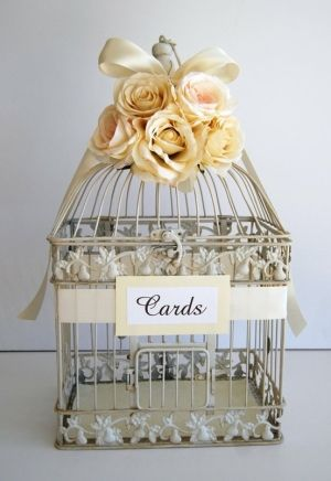 Weddingbee Your Wedding Blog And Community Wedding Guest Book Table Card Box Wedding Wedding Birdcage