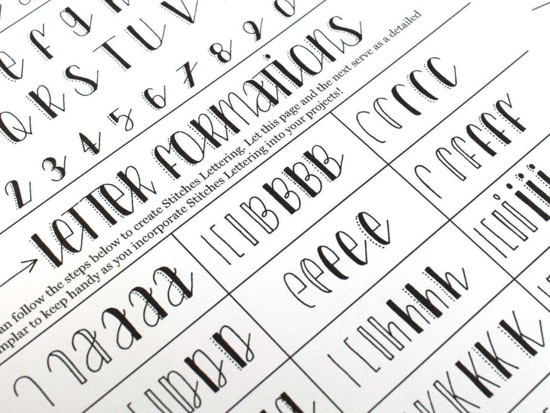 A Hand Lettering Worksheet Set To Delight Bothog