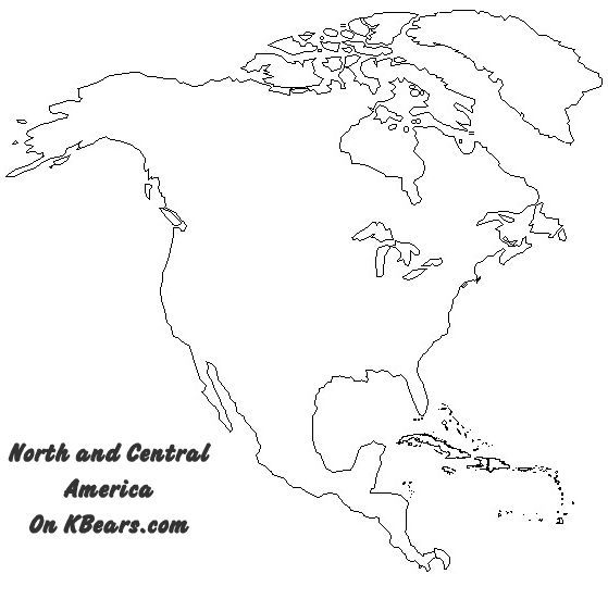 north america map to color