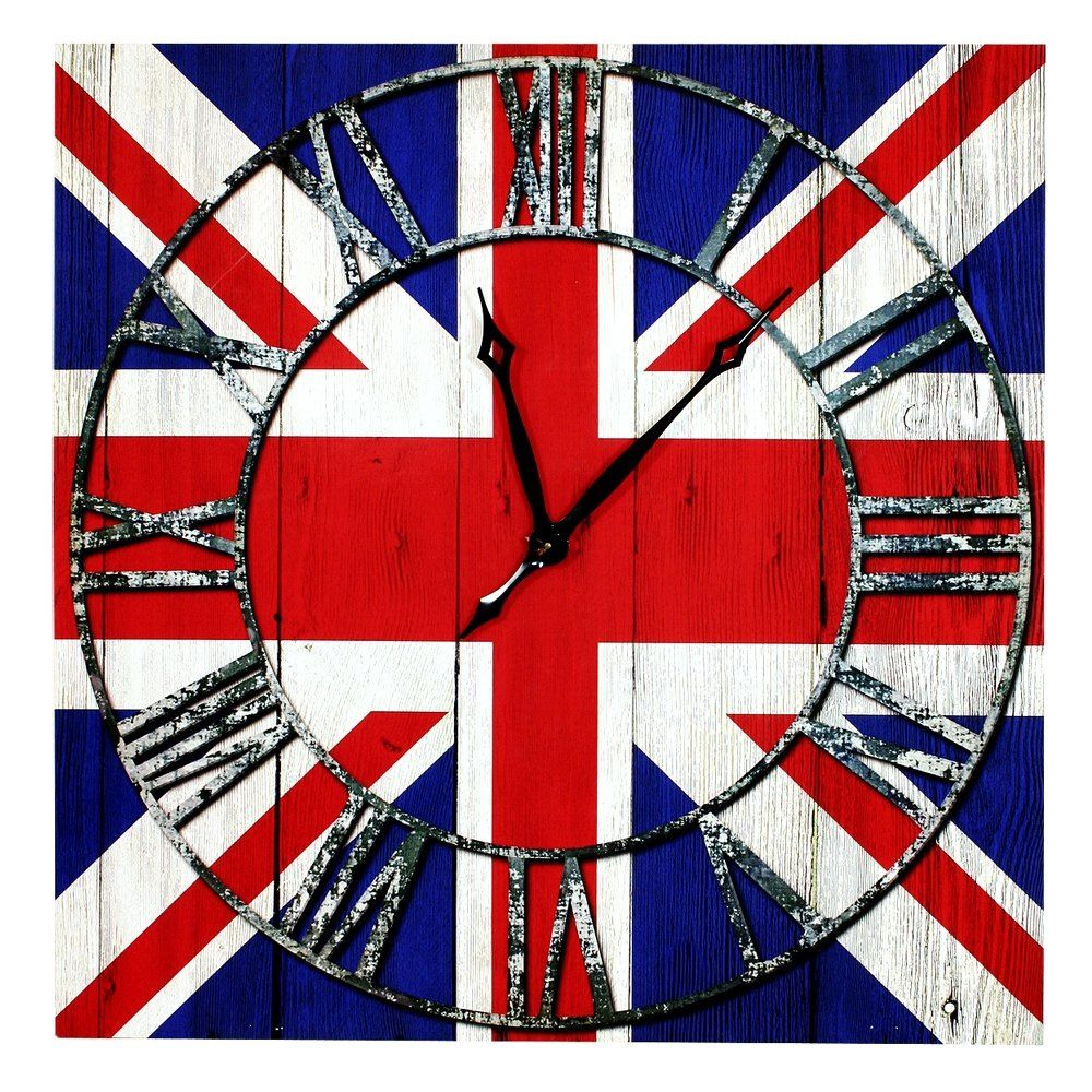 Union jack wall clock union jacks gone wild pinterest union union jack wall clock amipublicfo Images
