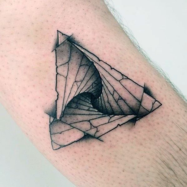 6df1f5057bd43 90 Triangle Tattoo Designs For Men - Manly Ink Ideas | Tattoos ...