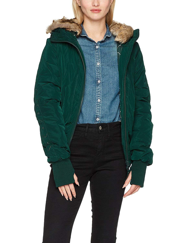 Grüne Jacke mit schwarzen Ärmeln
