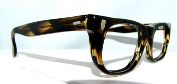 889c4a284c Thick Tortoiseshell Mens Eyeglasses 1950s 60s by ifoundgallery ...