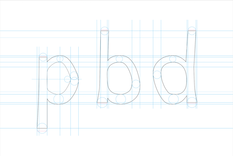 Dyslexia font by designer Christian Boer, to help dyslexic readers.
