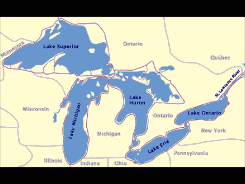 Five Great Lakes Th Social Studies Pinterest Music Lyrics - Usa map great lakes