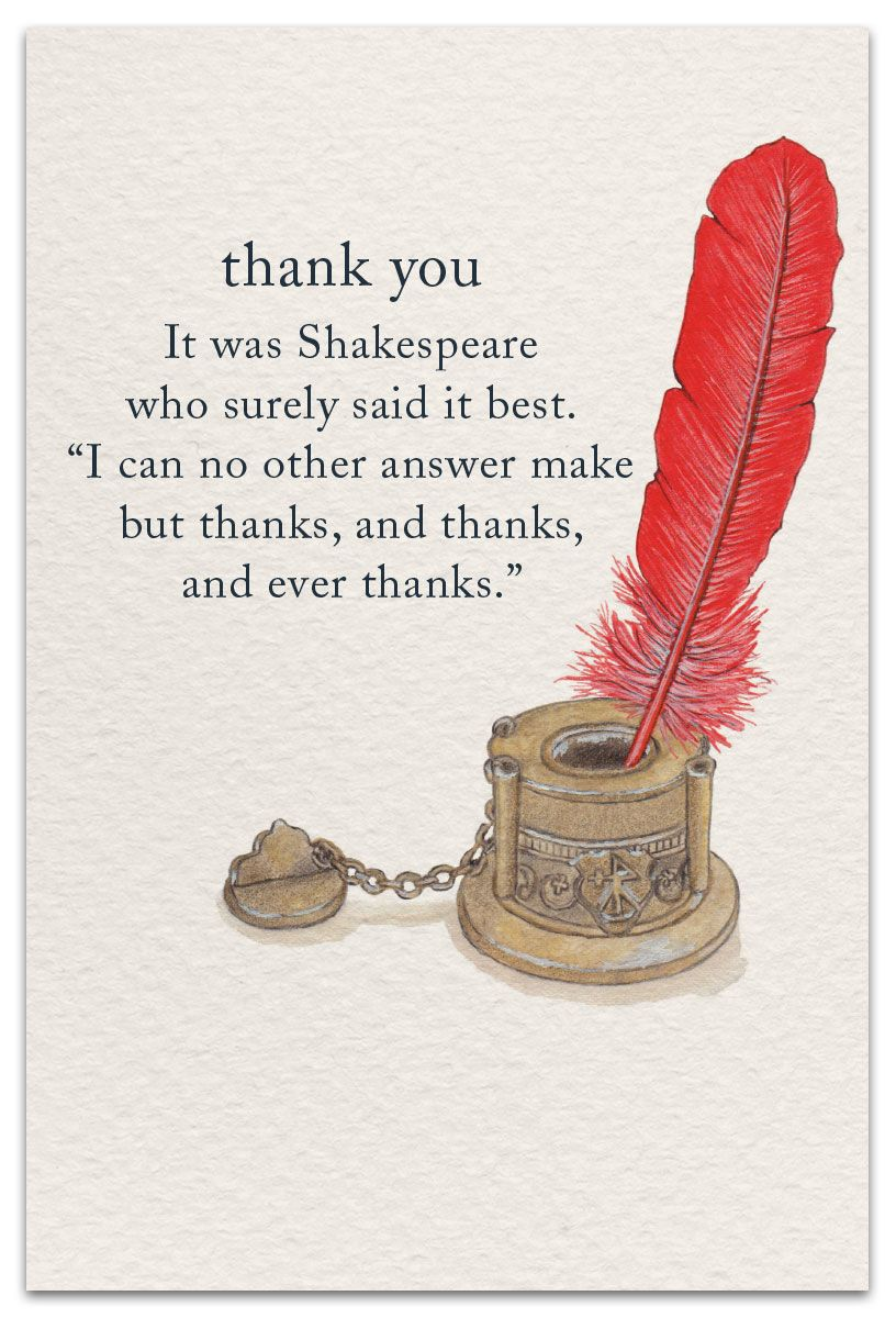 Quill Thank You Card Cardthartic Com Words Quotes Inspirational Words Meaning Of Life