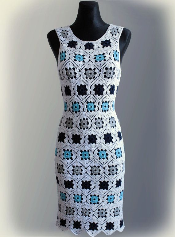5c6a01a05277 Dress. Crochet Pattern No 229