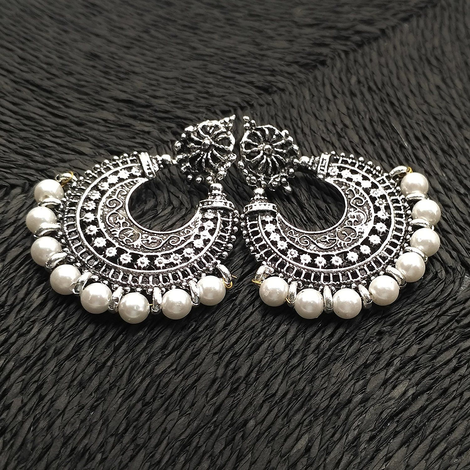 f16a682fe Chandbali Earrings | Buy online | German Silver Plated Antique Finish!!