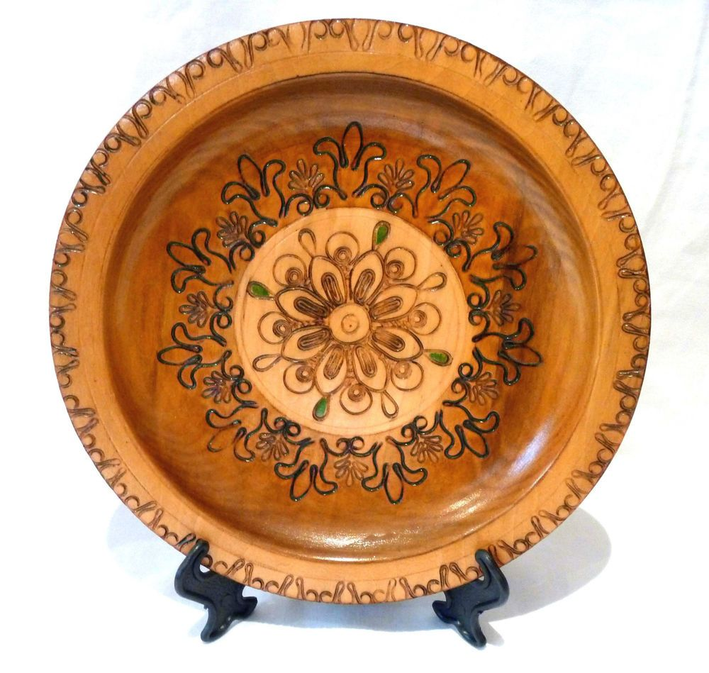 Hand made in Krakow Poland wooden plate/talerz pyrography u0026 filigree work  sc 1 st  Pinterest : polish wooden plates - pezcame.com