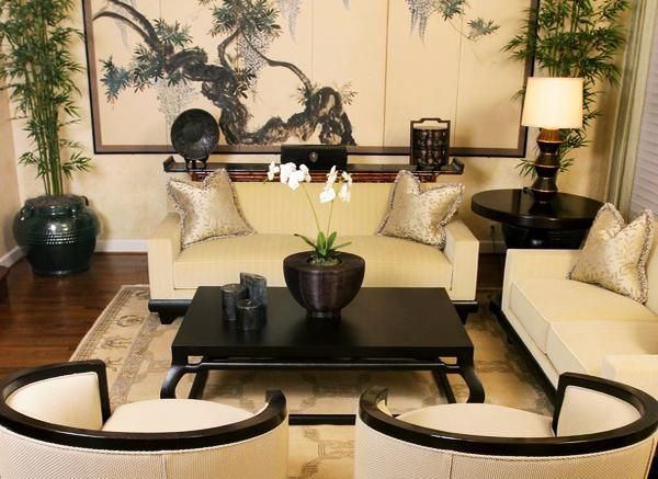 Asian Living Rooms With Nice White Sofa For Fabulous And Delightful  Oriental Living Room Chair Inspiring Design Ideas