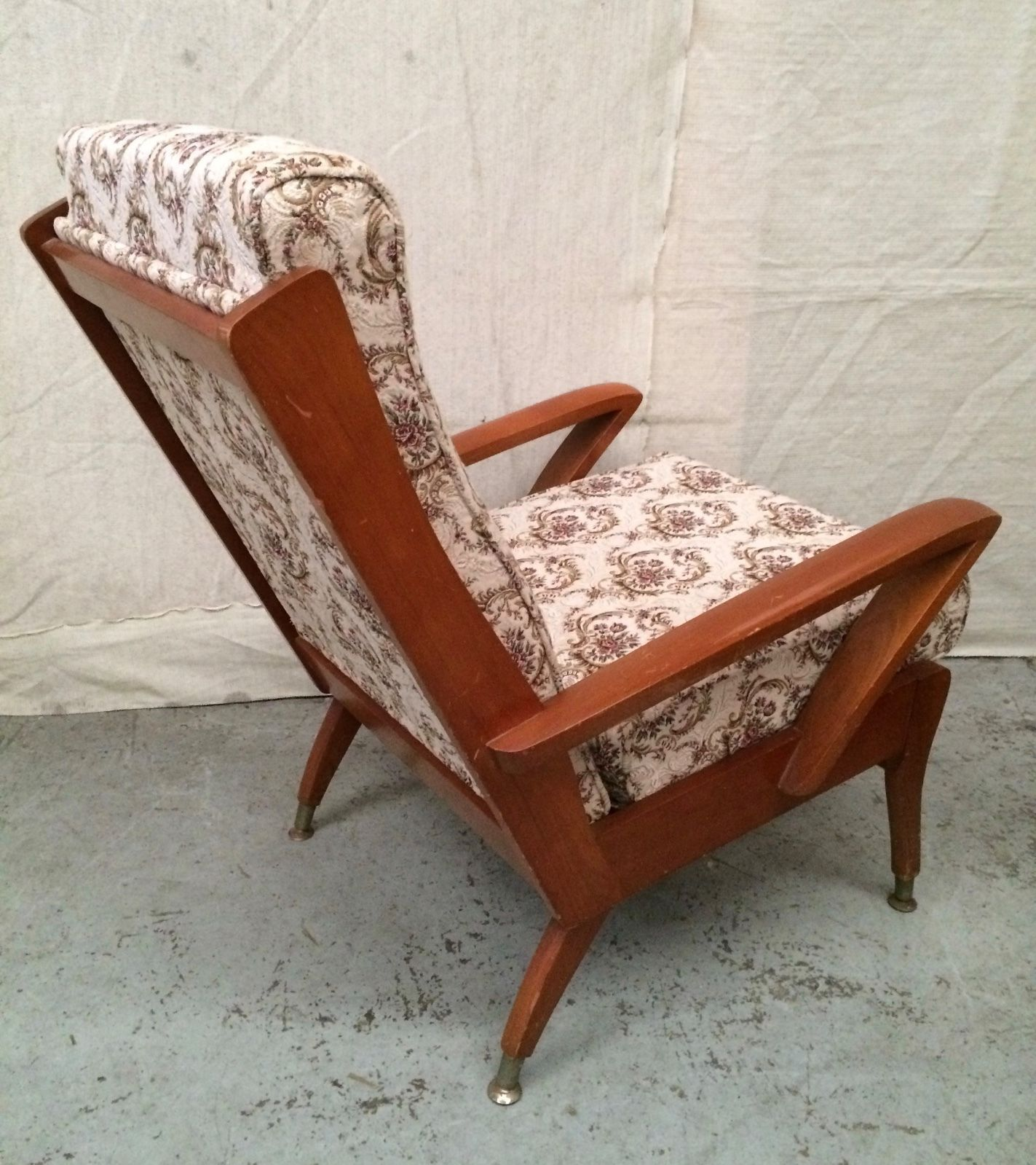 Pair Vintage Mid Century Wrightbilt Tv Chairs Lounge Retro Armchairs