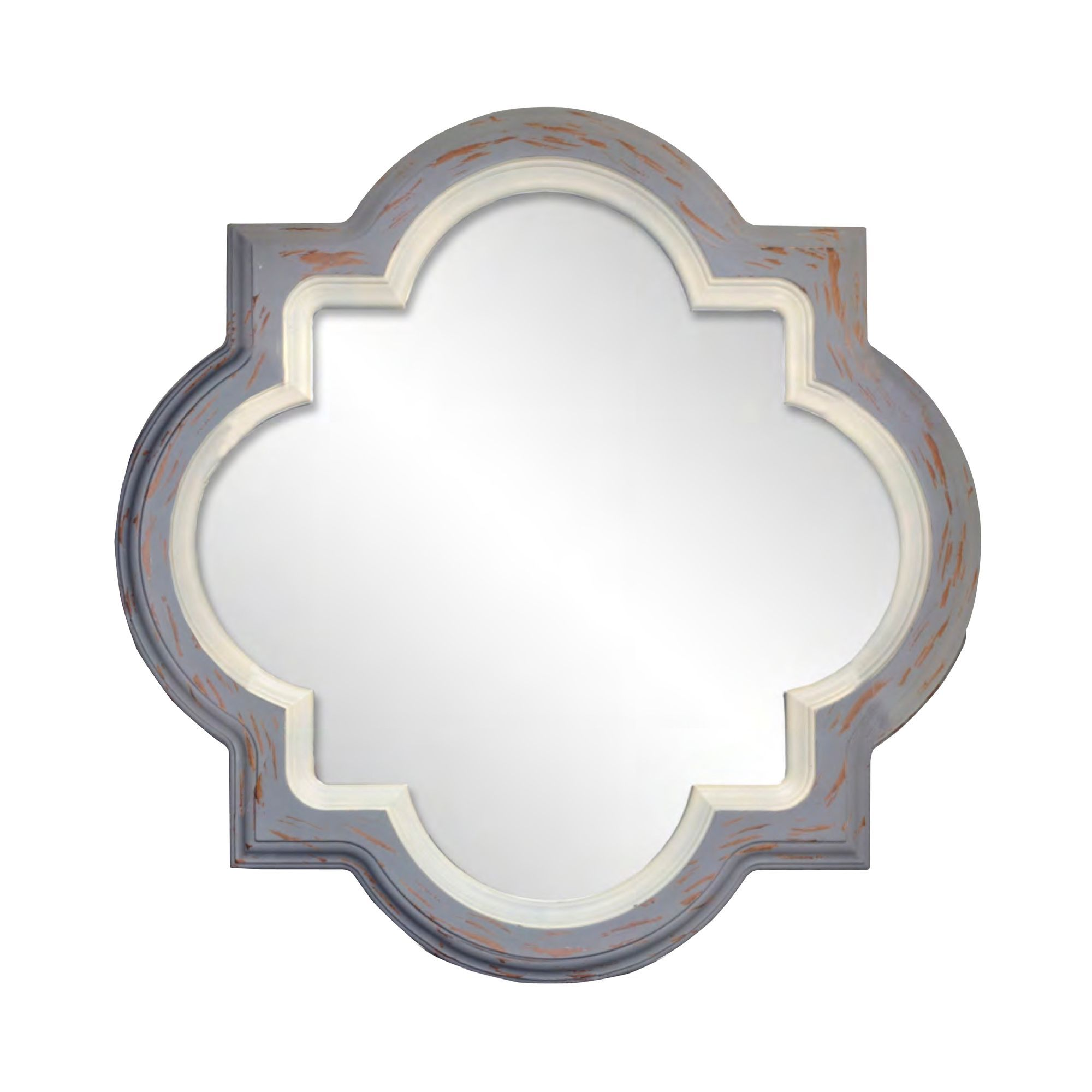 Sheffield Home® Quartrefoil Grey And White Mirror | For the Home ...
