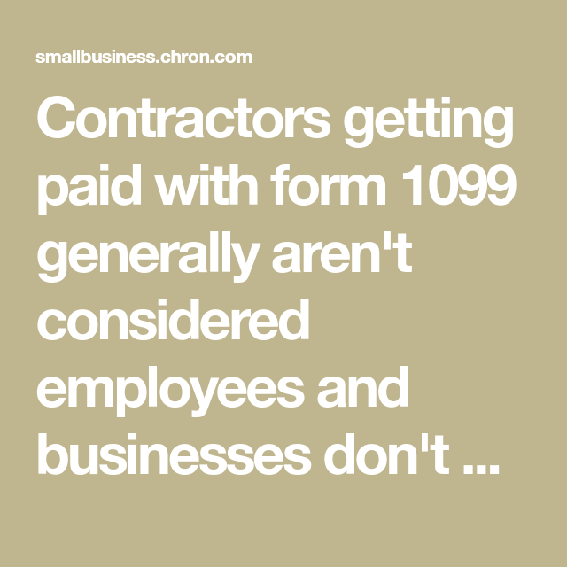 Do You Have To Carry Workman S Comp Insurance On 1099 Contractors