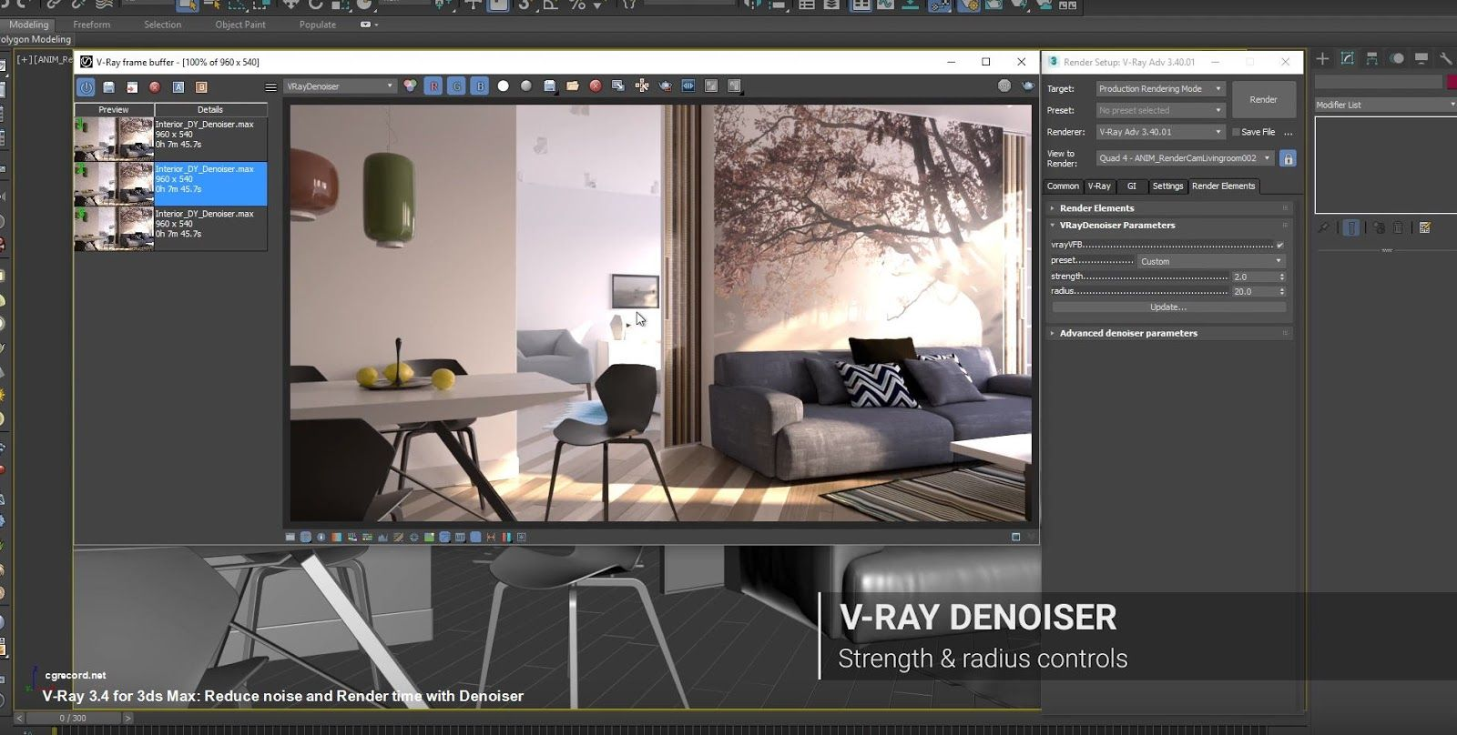 V Ray 34 For 3ds Max Reduce Noise And Render Time With Denoiser