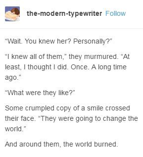 The world burned.