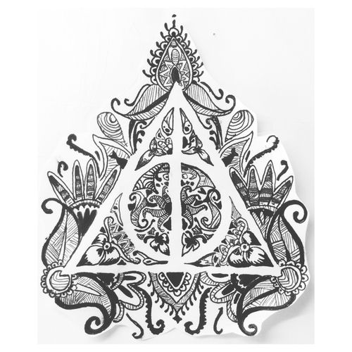 Drawings, Black And White, Harry Potter, ⚡, Tatto