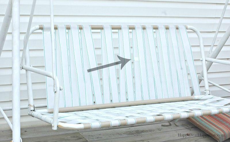 How To Fix Broken Canvas On A Porch Swing Garden Porch Swing