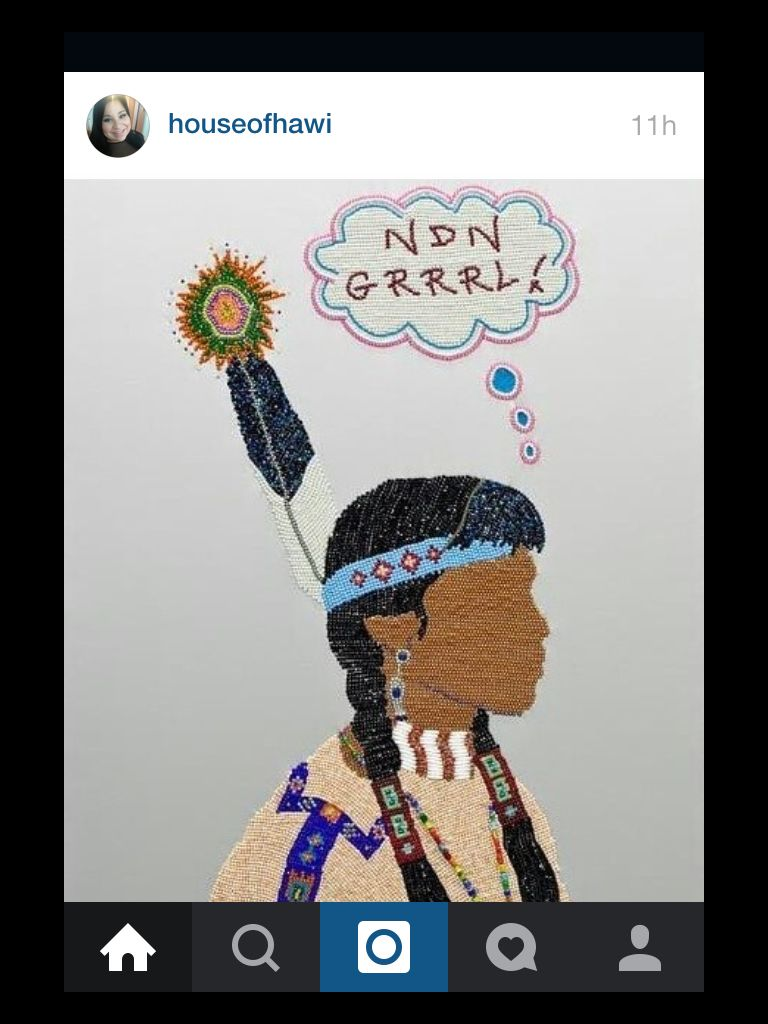 Gorgeous. #ndngirl #beading #beads #handmade #ndnpride #seedbeads