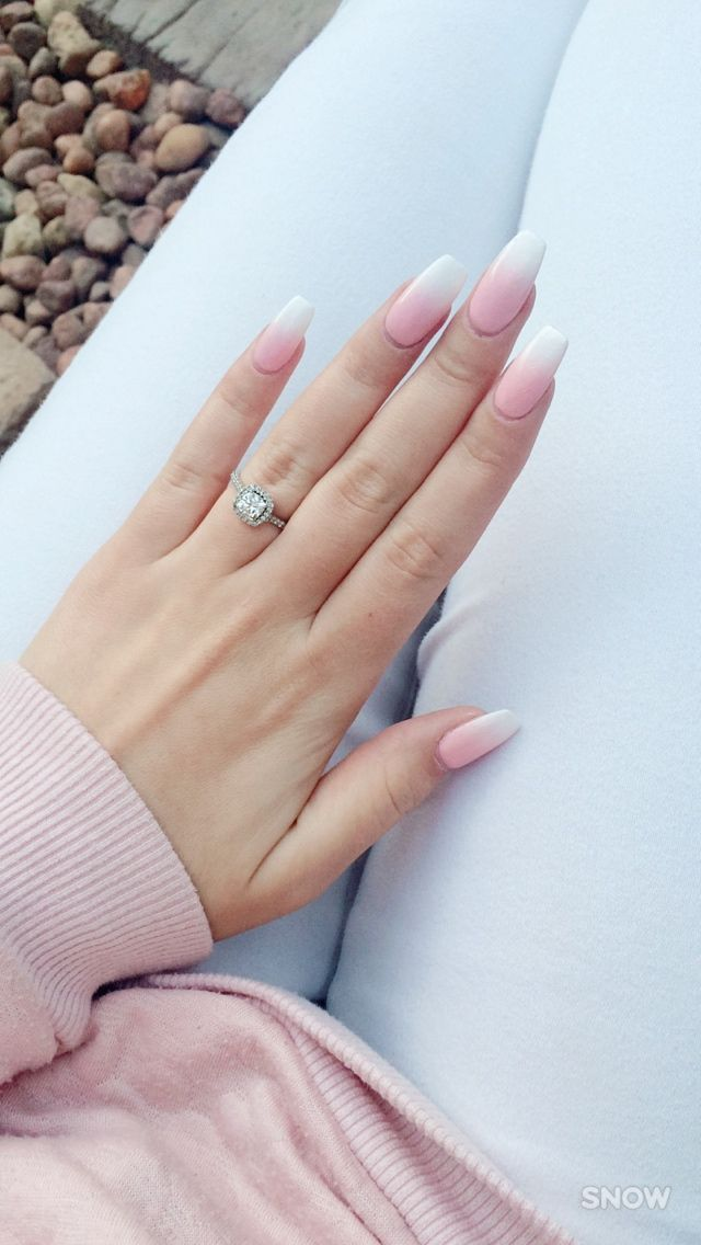 Faded french #opaque #faded #french #nails | Nails | Pinterest ...