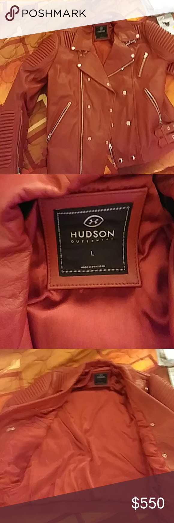 Mens Authentic Hudson Leather Jacket Mike Jackson All Red Leather Jacket Only Been Worn Once Out Of The Store Huds Leather Jacket Jackets Red Leather Jacket [ 1740 x 580 Pixel ]