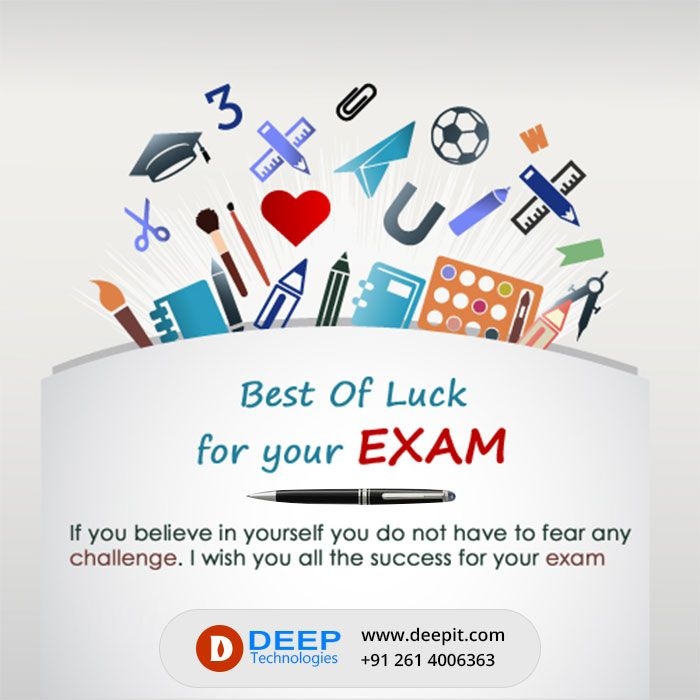 Exambest: Best Of Luck For Your Exam If You Believe In Yourself You