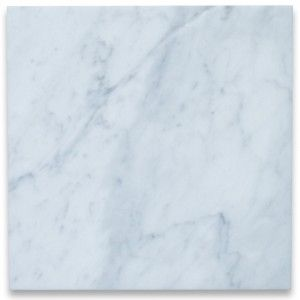 Carrara White 12x12 Tile Polished - Marble from Italy #whitemarbleflooring