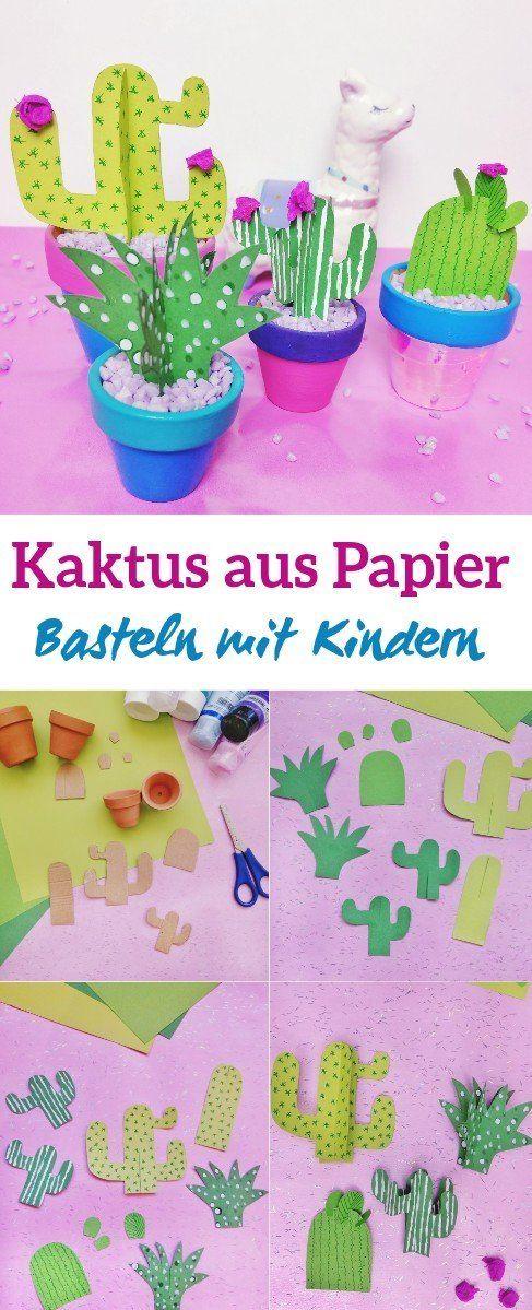 Photo of Kaktus aus Papier basteln – DIY Dekoration im Blumentopf