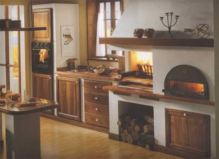 cucina_in_muratura2.jpg (450×327) | Fireplaces | Pinterest