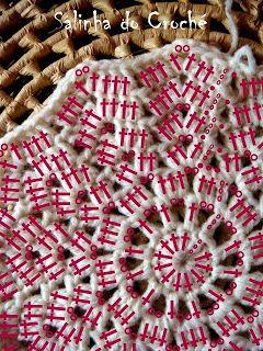 Salinha do Croché: Gráfico manta estrela 12 pontas