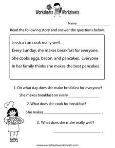 Free Comprehension Worksheets For Grade 2