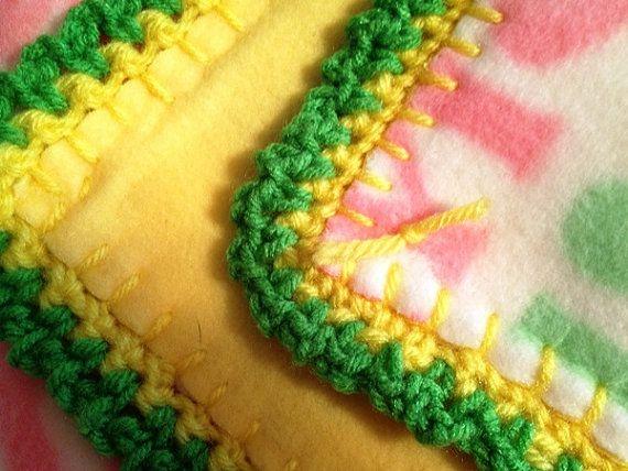 Pink Frogs in Toot Toot Cars Crochet Edge Double Fleece Blanket ...