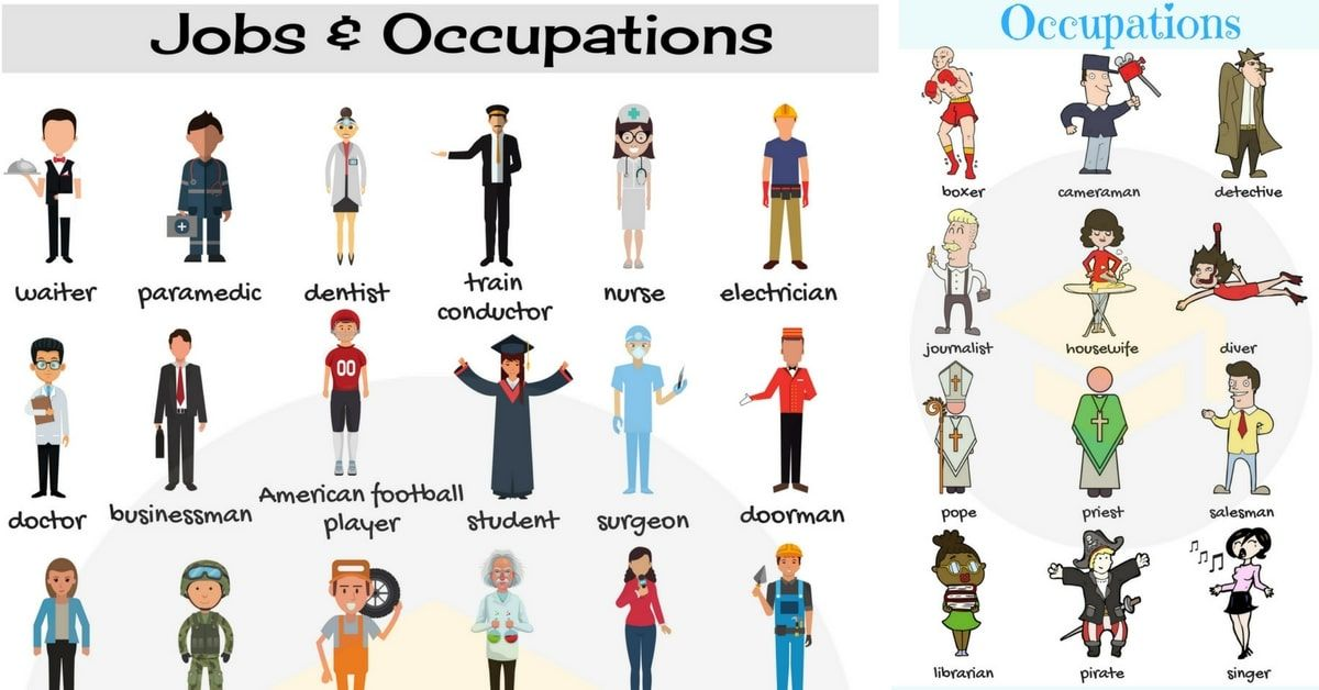 List Of Jobs And Occupations List of jobs, English