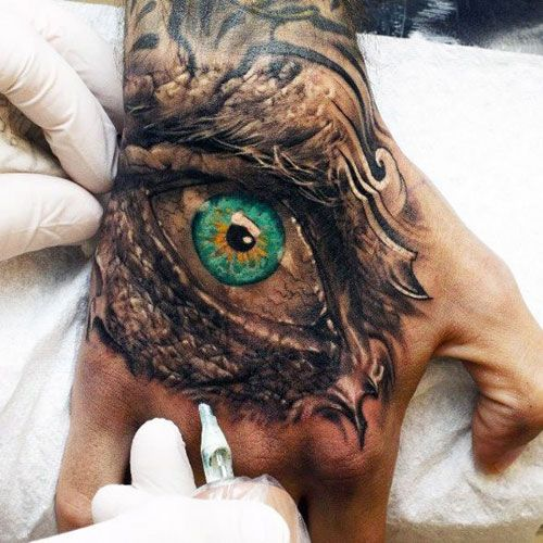Hand Tattoos For Guys The Eye Hand Tattoos For Men Best Tattoo Ideas And Cool Designs For Guys Tat Hand Tattoos For Guys Hand Tattoos Best Sleeve Tattoos