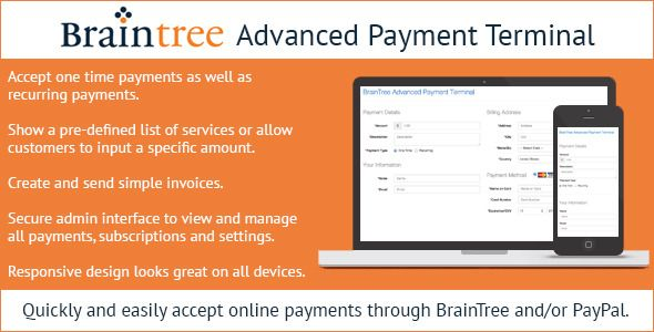 Braintree Advanced Payment Terminal  Quickly and easily accept