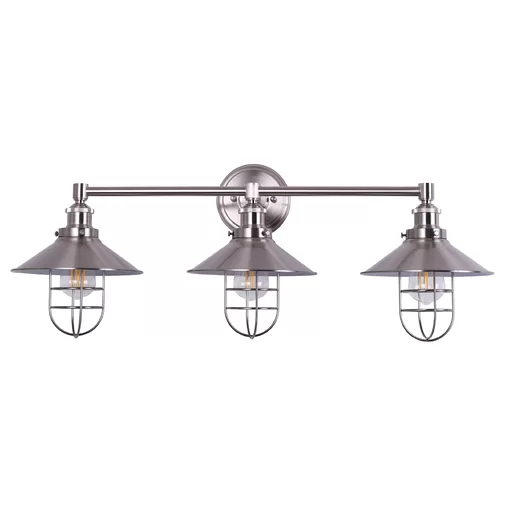 Sikes 3 Light Dimmable Vanity Light Wall Mount Light Fixture Wall Sconces Wall Sconce Lighting