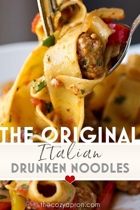 Italian Drunken Noodles   The Cozy Apron