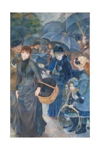 Les Para Pluies by Pierre-Auguste Renoir Giclee Fine ArtPrint Repro on Canvas