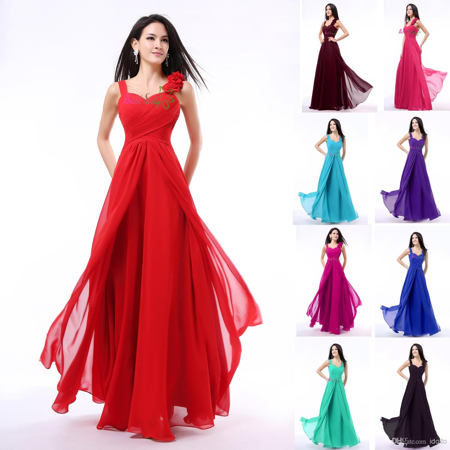 In stock cheap coral purple bridesmaid dresses turquoise for Purple wedding dresses for bridesmaids