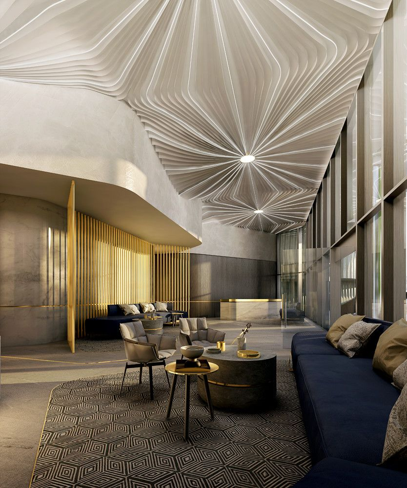 Oxley stirling 9 christie street south brisbane qld for Lobby ceiling design