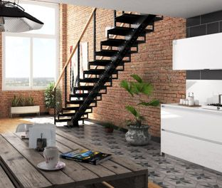 Best The Deluxe Easily Assembled Straight Stairs With Images 400 x 300