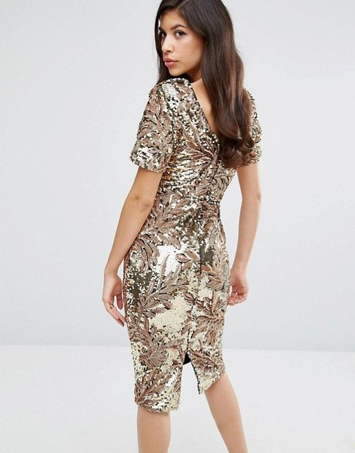 Long sleeve sequin dress asos clothing