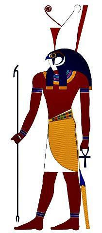 Horus, an ancient Egyptian falcon headed-deity.