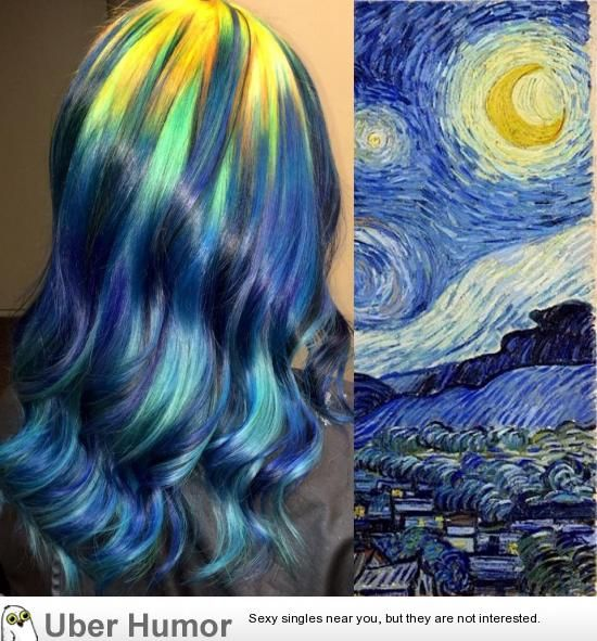 Starry night dyed hair.