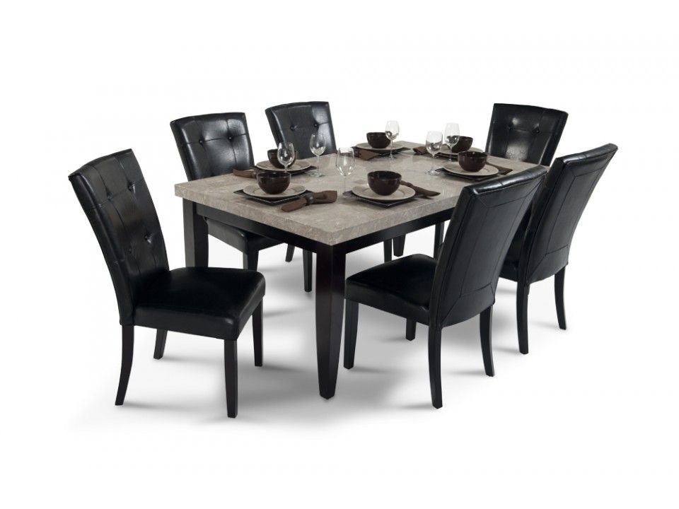 Montibello 42 X 70 Dining 7 Piece Set Marble Dining Table Set
