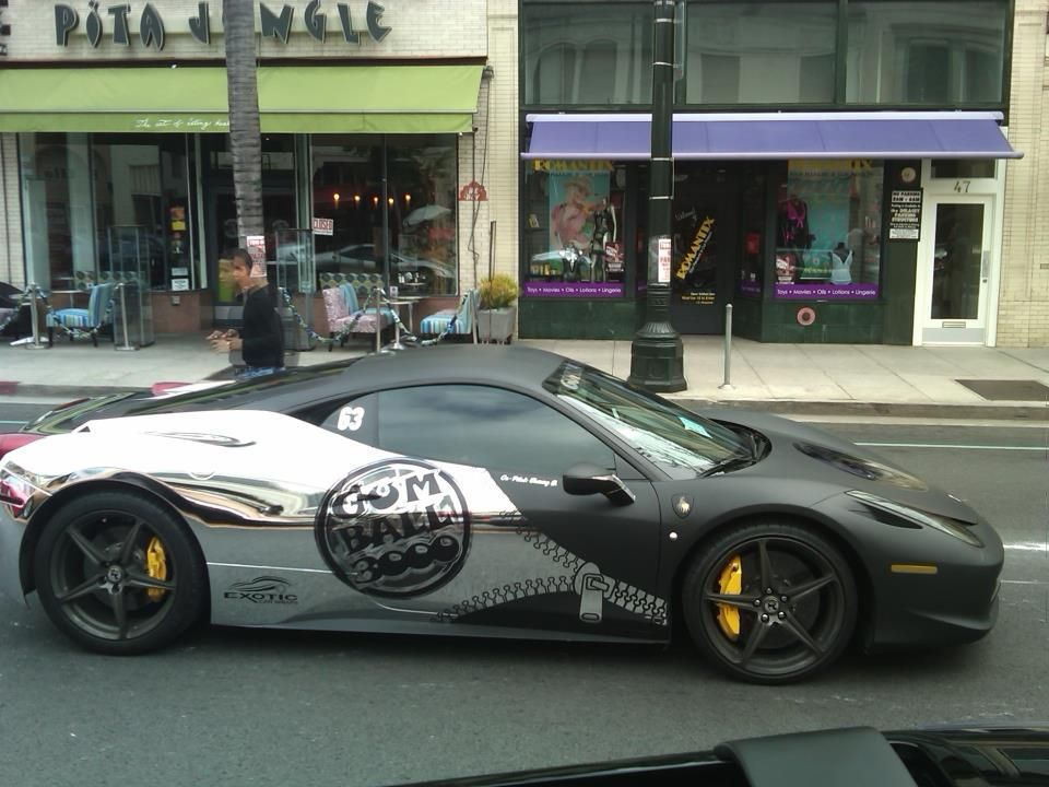 Chrome and Matte black wrapped 458 | car wrap