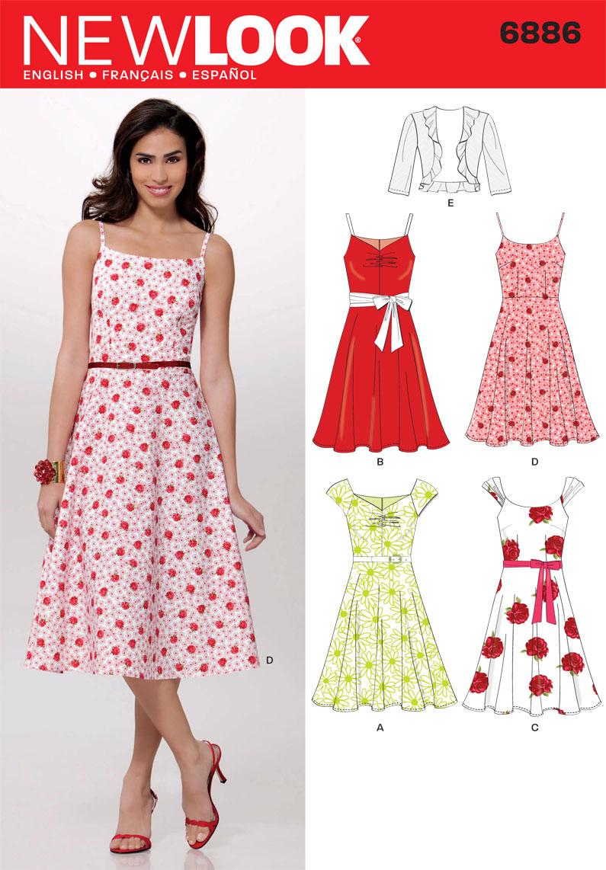 New Look Pattern: NL6886 Misses Dress & Jacket — jaycotts.co.uk ...