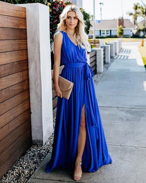 438a5f0ac82 PREORDER - Diana Sleeveless Maxi Dress - Fuchsia in 2019